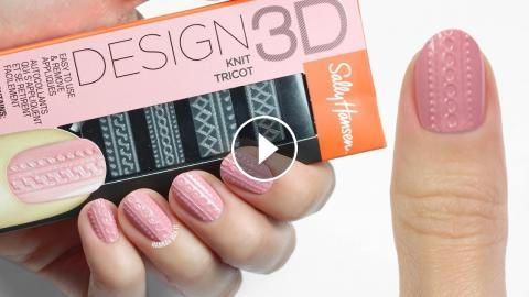 How To Use Sally Hansens 3d Design Nail Stickers