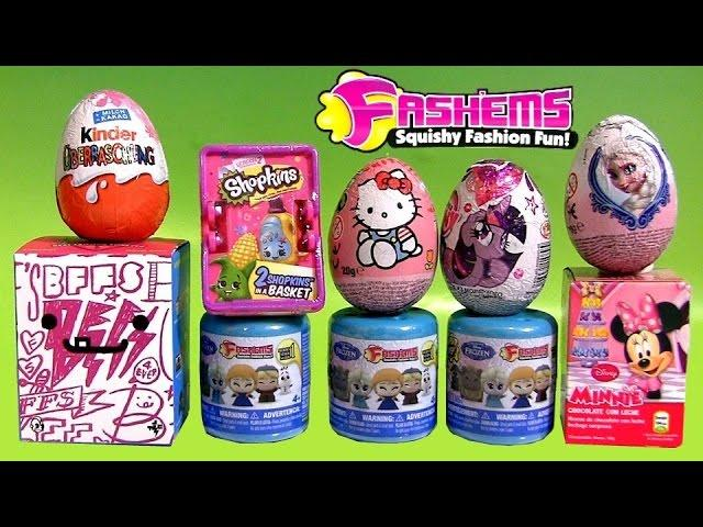 68a27f96d NEW Disney FROZEN FASHEMS Surprise Eggs BFFs My Little Pony SHOPKINS Play- Doh Peppa Barbie Collector