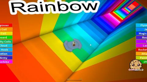 Jump Down A Rainbow ! Random Roblox Game Play with Cookie Swirl C