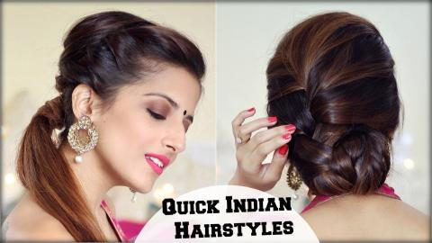Simple Indian Hairstyles With Open Hair For Weddings Party