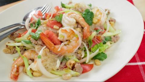 Yum Woon Sen Recipe (glass Noodle Salad 2.0) ยำวุ้นเส้น   Hot Thai Kitchen