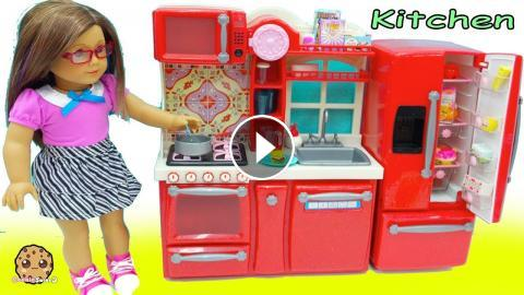 American Girl Cooking Playdoh Food Surprise Blind Bags In Doll Kitchen