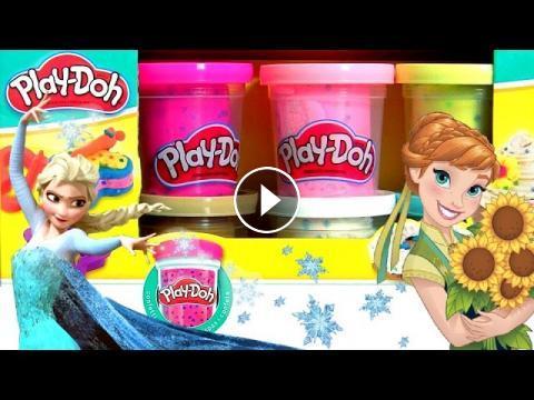 Play Doh Confetti using Glitter Glider Elsa Anna Disney
