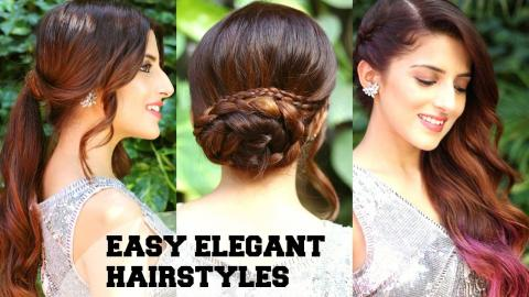 3 EASY Elegant Romantic Hairstyles Indian Party For Medium To Long Hair BBLUNT