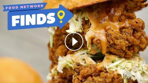 Double Fried Chicken Sandwich At Two Birds Food Network