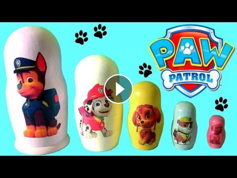 PAW PATROL Nesting Toys Stacking Cups Surprise Marshall