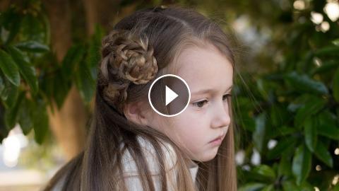 Side Triple Flower Cute Girls Hairstyles
