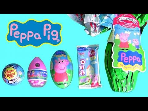 Giant Peppa Pig Surprise Egg, Christmas Peppa Pig Chupa Chups Clay Buddies by Disney Collector