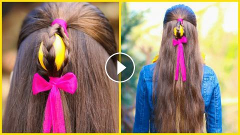 How To Make A Half Up Easter Egg Hairstyle On Yourself Diy Step