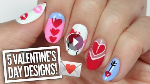 5 Cute Valentine S Day Nail Art Designs