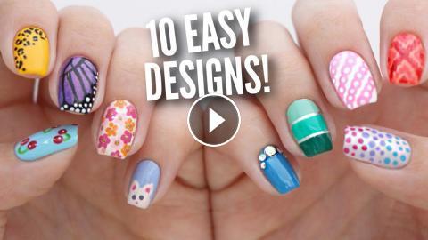 toenail art designs for beginners
