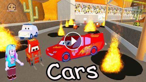 Lightning Mcqueen Is In Jail Cars Roblox Obby Crazy Obstacle