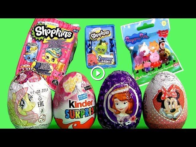 2015 Shopkins Mystery Bag Barbie Kinder Huevos Sorpresa Peppa Pig