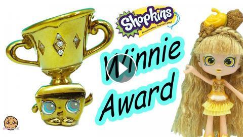 Limited Edition Winnie Award Gold Diamonds Shopkins