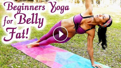 20 Minute Yoga Workout: Bye-Bye BELLY FAT!! Beginners Weight