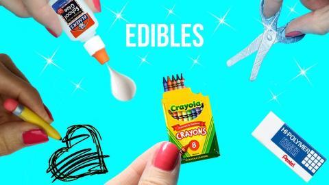 DIY EDIBLE School Supplies {Easy}! 5 MINIATURE Edible DIYs