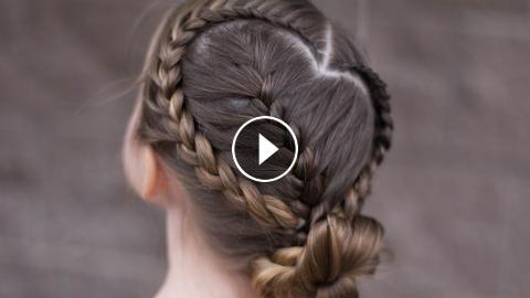 Sweetheart Braid Combo Heart Hairstyle Cute Girls Hairstyles